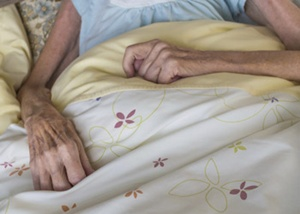 Very Thin Nursing Home Patient's Arms