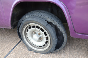 Flat Tire Caused by Faulty Product for Liability Lawsuit